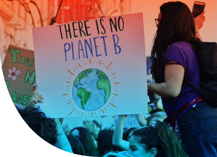 Rally sign - there is no planet B